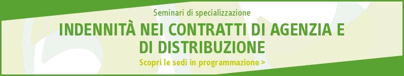 Indennità dei contratti di distribuzione e agenzia internazionale