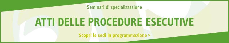 Atti delle procedure esecutive