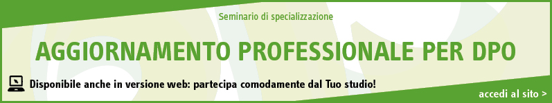 Aggiornamento professionale per Data Protection Officer