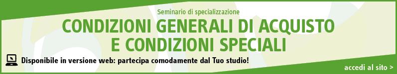 Condizioni generali di acquisto e condizioni speciali